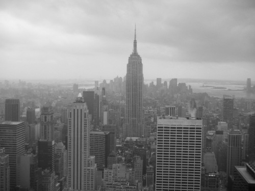 View from the Top of the Rockefeller Centre (B/W)