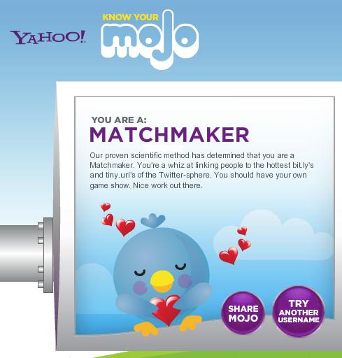 Our social mojo is 'Matchmaker'. Spot on!